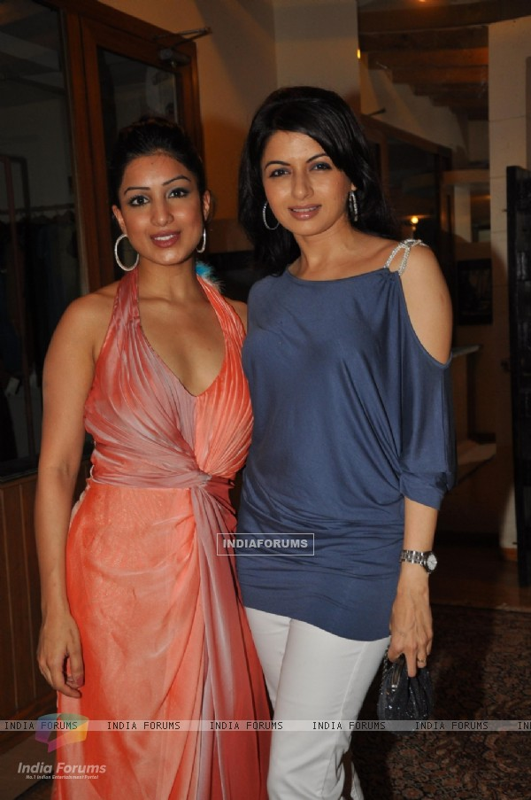 Pallavi Sharda with Bhagyashee in Nisha Sagar designs Evening Romance