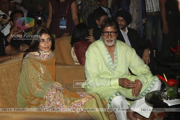 Daughter Shweta at Mr.Amitabh Bachchan's birthday bash on behalf of Sony Entertainment Television