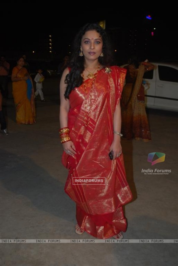 Sharbani Mukherjee from the film 332 Mumbai To India visited Sankalp Dandiya, Mumbai