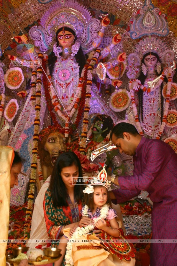 """Kanya Puja"" during the ""Durga Puja"" celebrations in New Delhi"