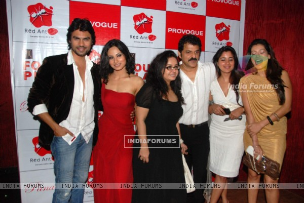 Celebs at Red Ant Cafe launch at Bandra