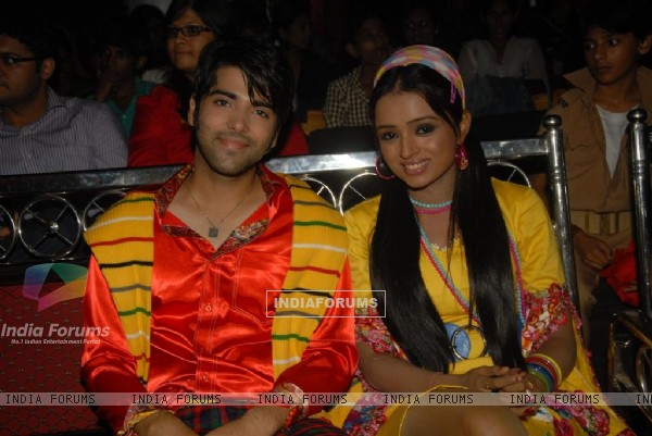 Kinshuk Mahajan and Parul Chauhan at Zee TV Diwali show
