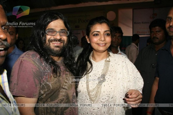 "Vaibhavi Merchant and  Pritam Chakraborty celebrated ""Sarbojanin Durga Puja"""