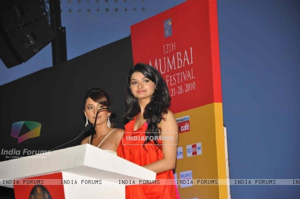 Minissha Lamba and Prachi Desai at Inauguration Of 12th MAMI Festival in Mumbai