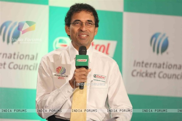 Harsha Bhogle at Castrol-ICC World Cup Event at Mumbai