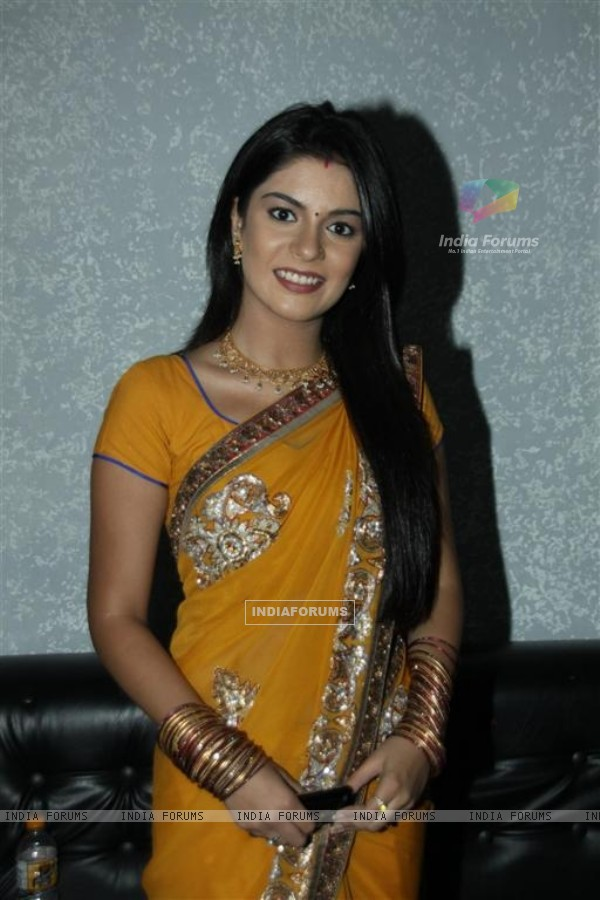 Pooja Gor on the sets of KBC at Film City