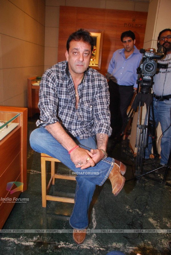 Sanjay Dutt snapped shopping for a watch