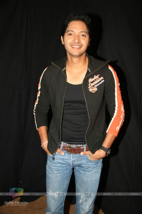 Shreyas Talpade on the sets of KBC
