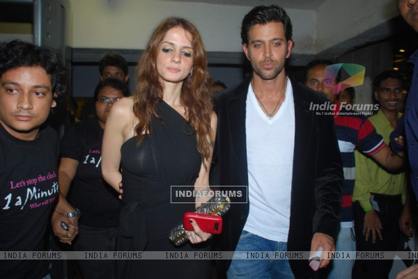 Hrithik Roshan and Suzzane Khan at Namrata Gujral's 1 A Minute film on breast cancer premiere PVR