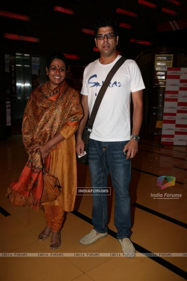 Murli Sharma and Ashwini Kalsekar at Premiere of 3D film Pirnha at Cinemax, Andheri