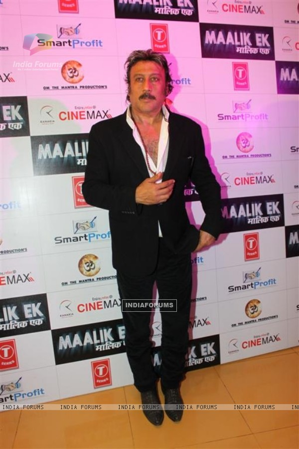 Jackie Shroff at Premiere of Maalik Ek at Cinemax, Mumbai