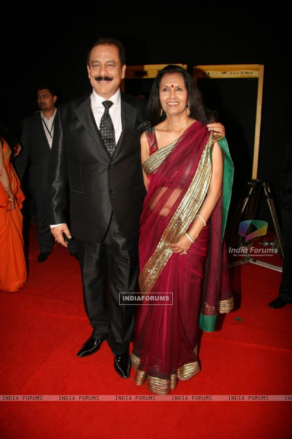 Subroto Roy wife Swapna Roy at Sahara Sports Awards 2010