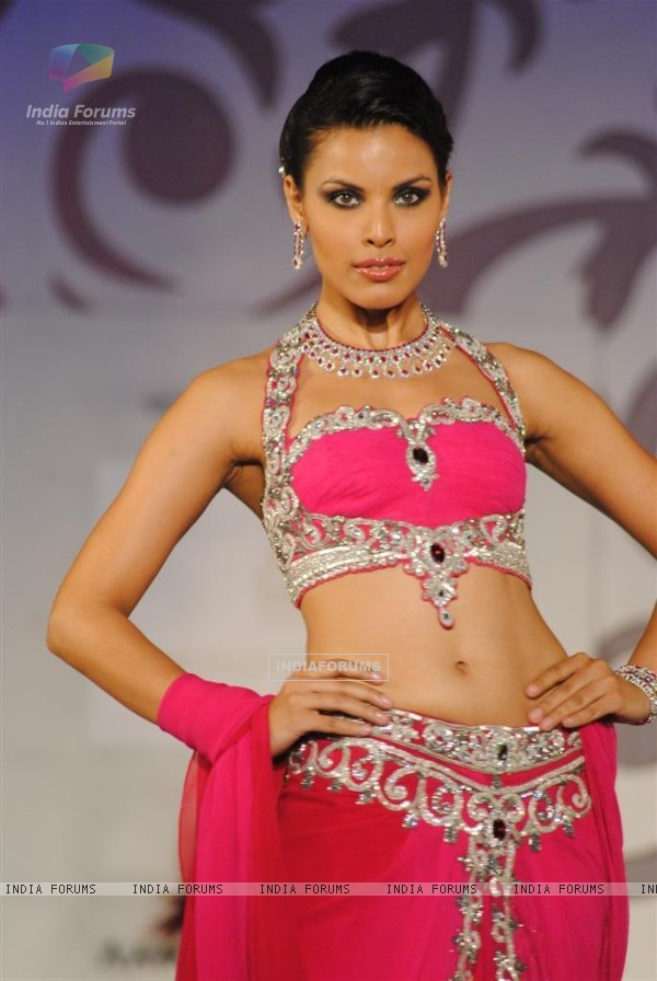 Models walk the ramp at Aamby Valley India Bridal Week day 2