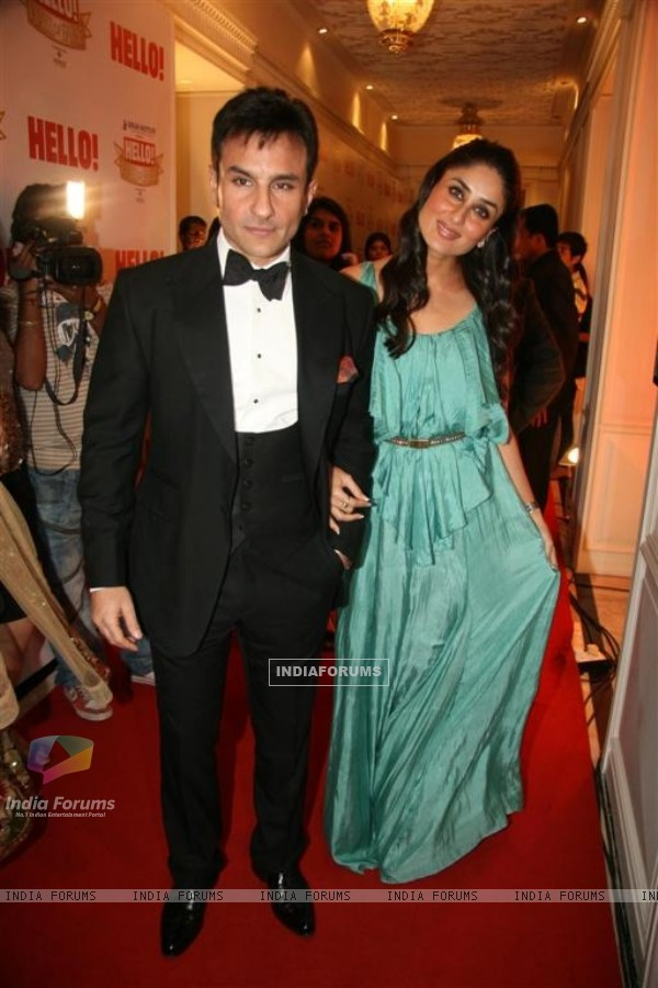 Saif Ali Khan and Kareena Kapoor at 'Hello! Hall Of Fame' Awards