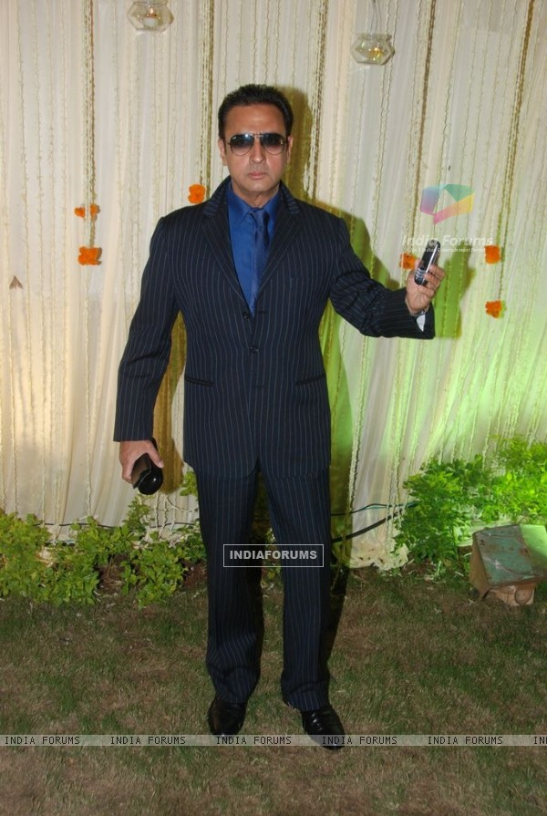 Gulshan Grover at Vivek Oberoi's wedding reception at ITC Grand Maratha