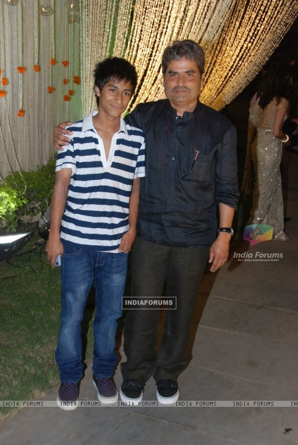Vishal Bharadwaj at Vivek Oberoi's wedding reception at ITC Grand Maratha