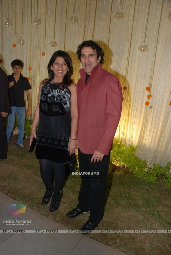 Parmeet Sethi and Archana Puran Singh at Vivek Oberoi's wedding reception at ITC Grand Maratha