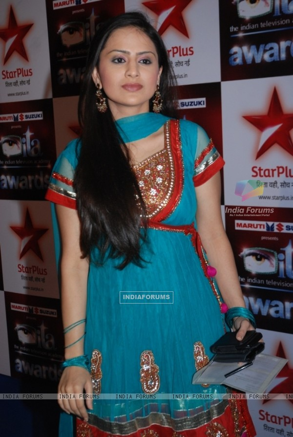 Parvati Sehgal (Komal) at the Star Plus ITA awards Red carpet