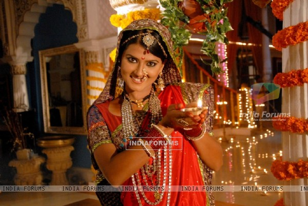 Kratika Sengar from Jhansi Ki Rani wishing Happy Diwali