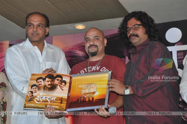 Ashutosh Gowariker at the Music Launch of the Marathi film Sumbarn at the MIG Club