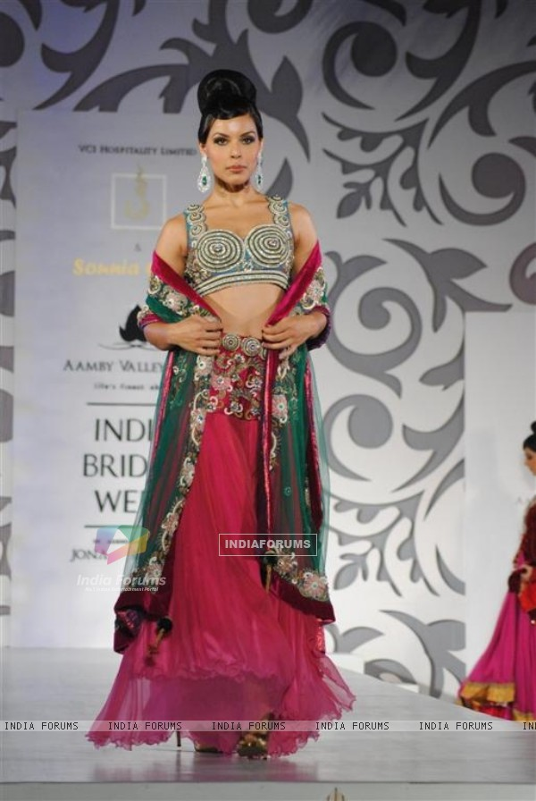 Models walks the ramp at Aamby Valley Indian Bridal Week day 5