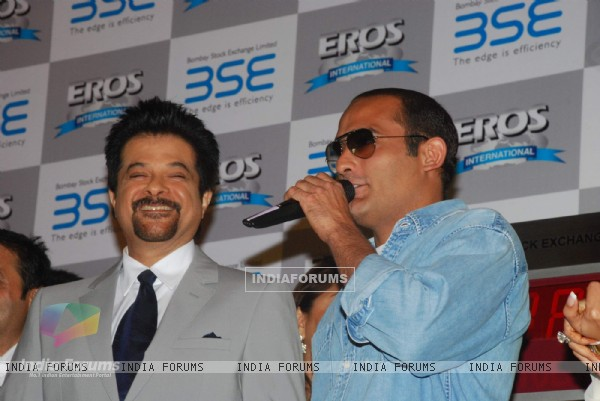 Anil Kapoor and Akshay Khanna at 'No problem' mahurat at BSE