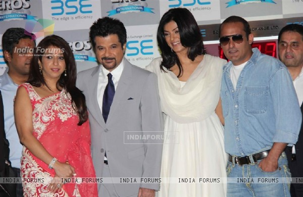 Anil Kapoor, Akshay Khanna and Sushmita Sen at 'No problem' mahurat at BSE