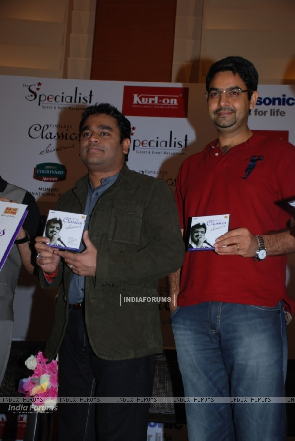 A R Rahman & Music Head, Saregama, Adarsh Gupta launching Srinivas latest album Timeless Classics