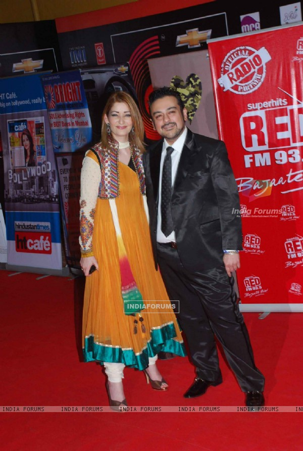 Adnan Sami at Global Indian Music Awards on Wednesday night at Yash Raj Studios