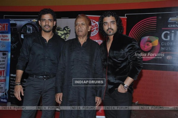 Toshi and Sharib Sabri at Global Indian Music Awards at Yash Raj Studios