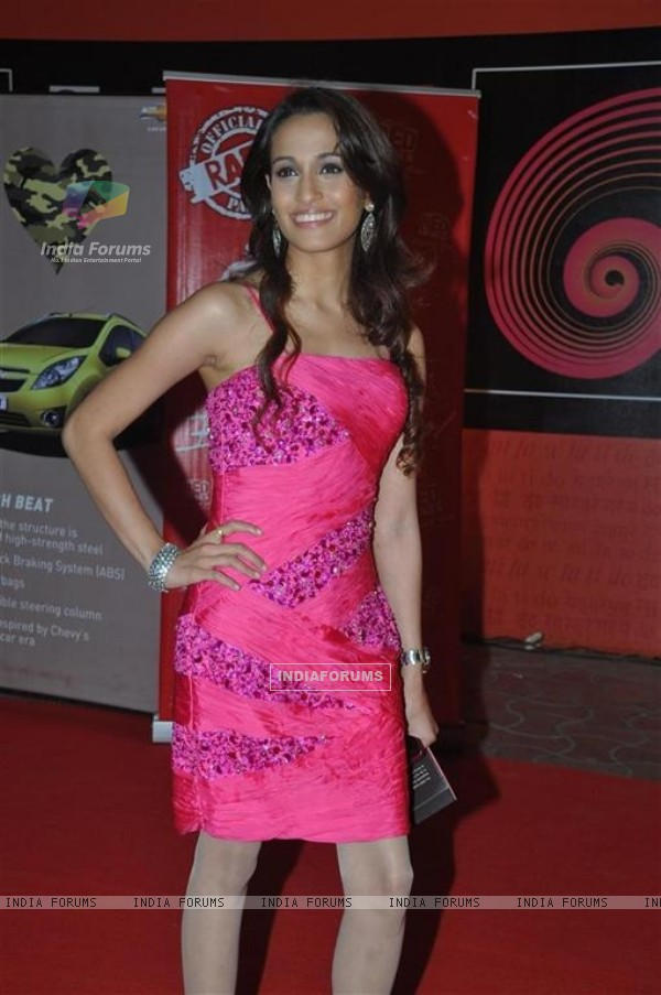 Sonu Nigam wife Madhurima at Global Indian Music Awards on Wednesday night at Yash Raj Studios