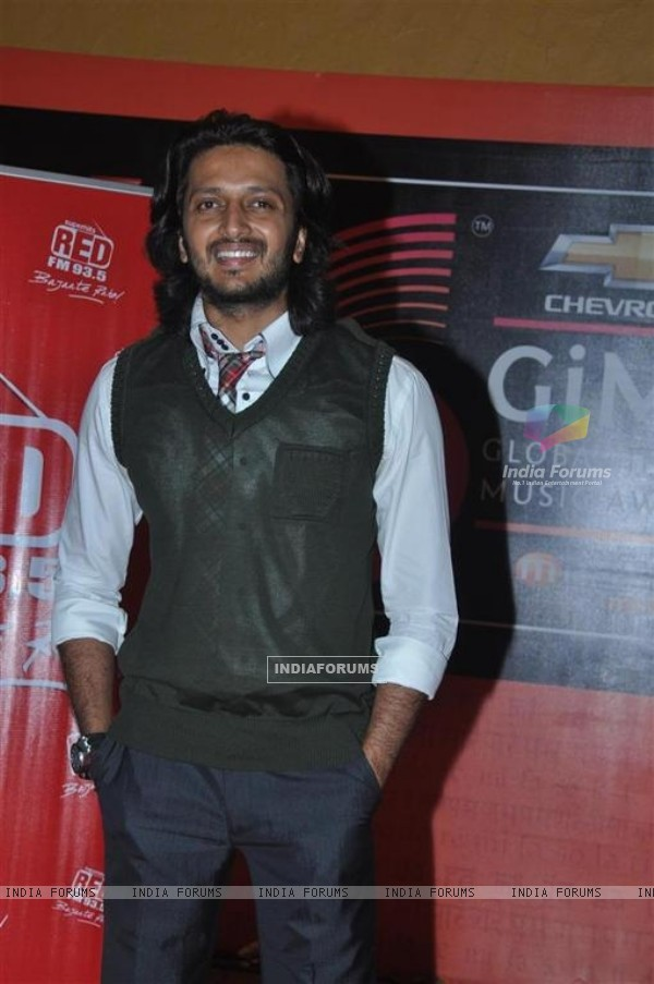Ritesh Deshmukh at Global Indian Music Awards on Wednesday night at Yash Raj Studios