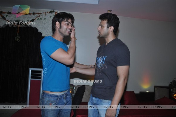 Kapil Sharma and Aryan Vaid at Press meet of 'Dunno Y Na Jaane Kyun...'