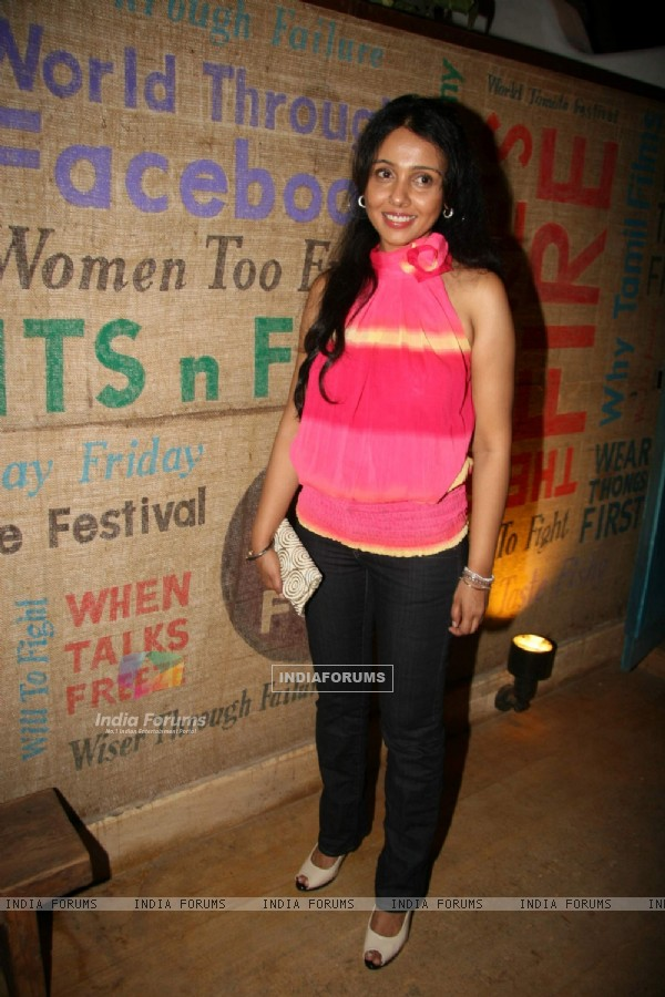 Suchitra Krishnamurthy at Jackie Shroff launches WTF restaurant at Versova