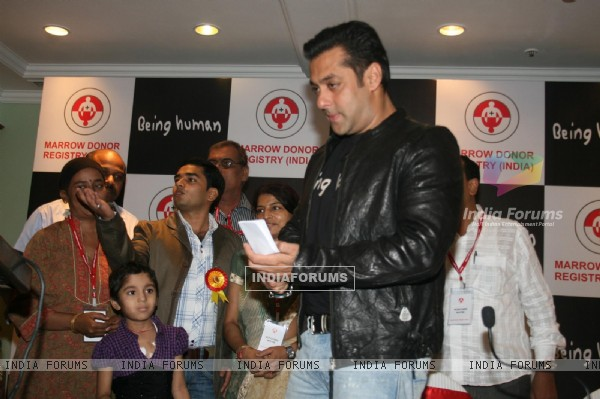 Salman Khan at the Human Marrow Donor press meet