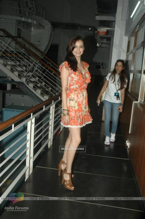Dia Mirza at the launch of Jet Spark in Goregaon