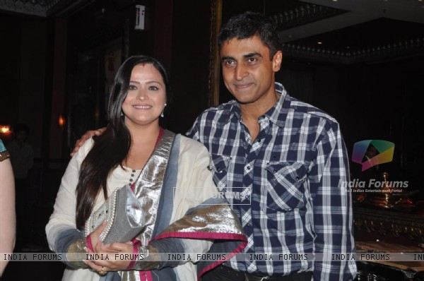 "Mohnish Behl with his wife in Launch of ""Isi Life Mein"" Film"