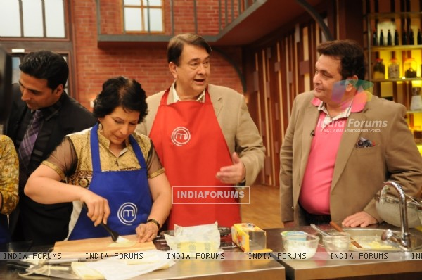 Rishi and Randhir Kapoor on tv show Master Chef India