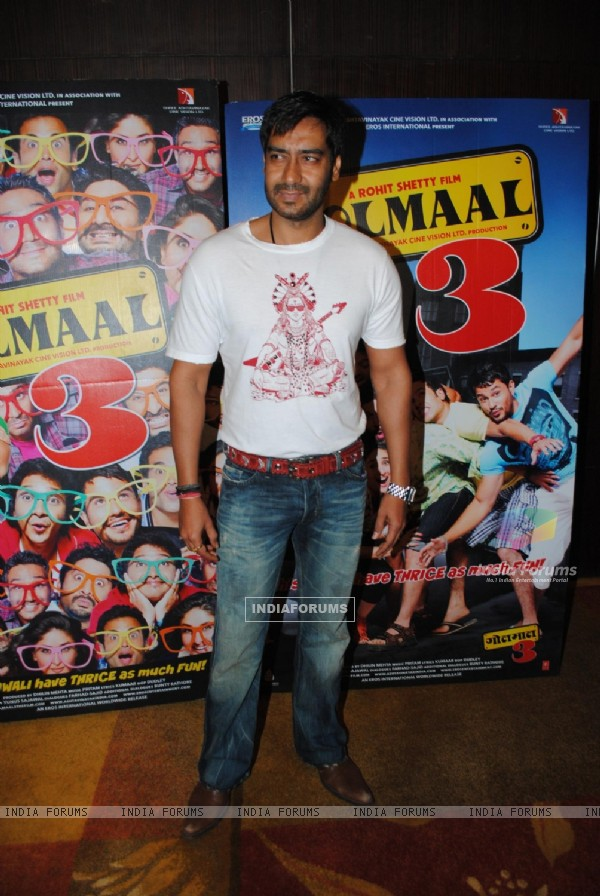 Ajay Devgan at Golmaal 3 success bash, Hyatt Regency