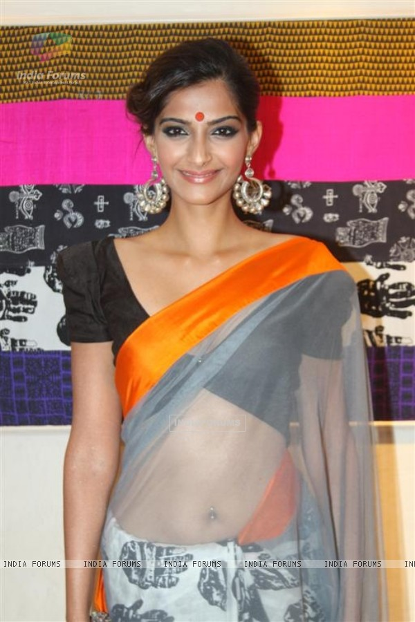 Sonam Kapoor at innaguration of fashion designer Masaba Gupta's first standalone store''MASABA''