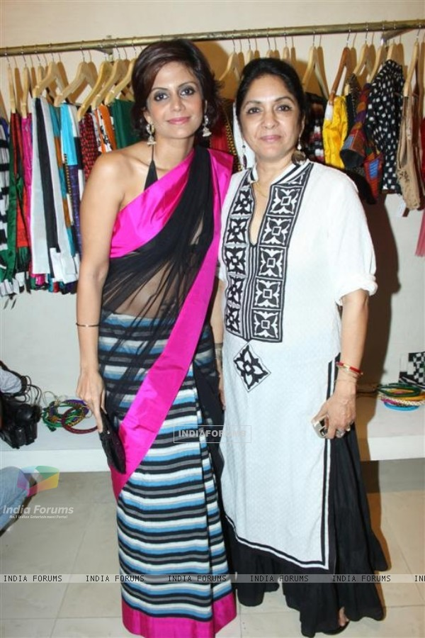 Mandira and Neena at inaguration of fashion designer Masaba Gupta's first standalone store''MASABA''