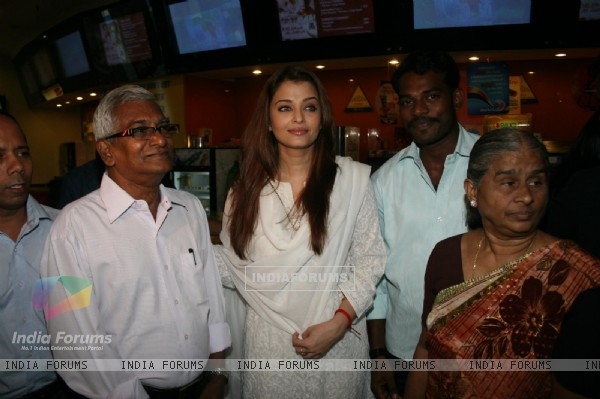Aishwarya Rai at special show of Guzaarish for special kids and paraplegic patients at PVR Cinemas in Juhu, Mumbai