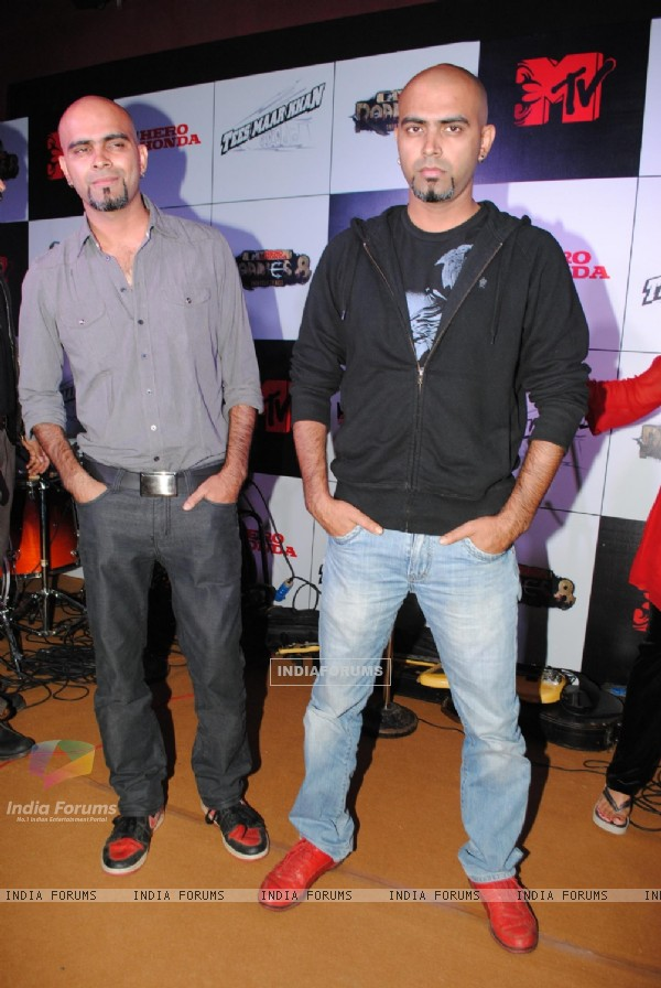 Raghu and Rajiv at MTV Roadies promotional event