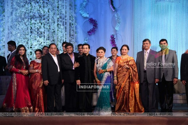 Nitish Rane's wedding reception at Mahalaxmi Race Course