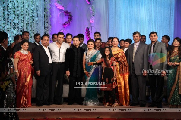 Salman Khan at Nitish Rane's wedding reception at Mahalaxmi Race Course