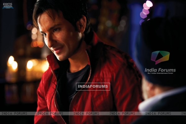 Saif Ali Khan in Red Jacket