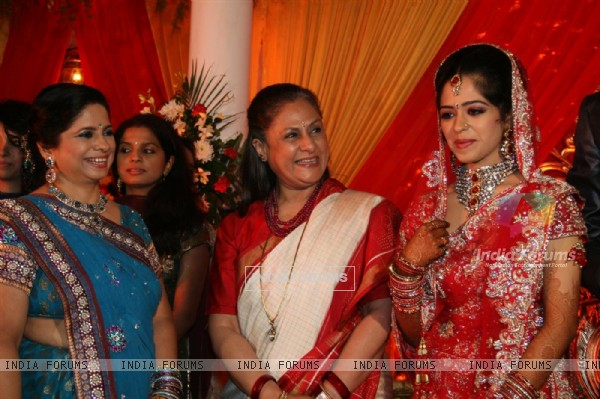 Jaya Bachchan at Sameer's daughter Shanchita & Abhishek wedding at Sun and Sands wedding reception