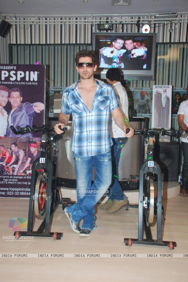 Neil launches Baqar's Top Spin Fitness studio at Napean Sea Road. .