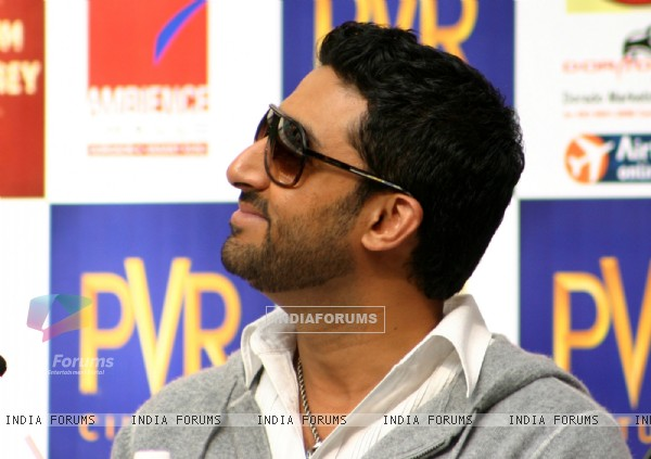 Abhishek Bachchan at a press conference to promote his film
