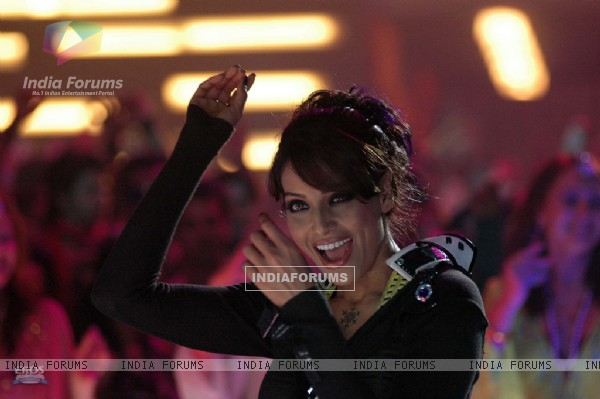 Bipasha Basu giving a close-up smile